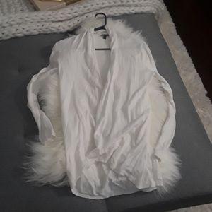 Express cream colored cardigan